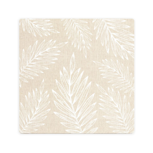 LUXE BEIGE LEAF CERAMIC COASTER / CORK BACKING
