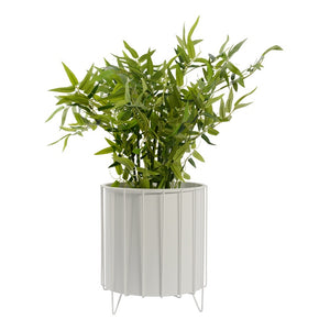 Aerial Metal Pot Stand with Pot Large White