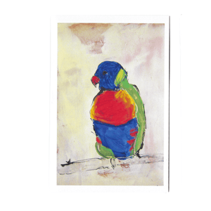 LORIKEET LULU GREETING CARD / RACHEL CARROLL ARTIST - Bowerbird on Argyle