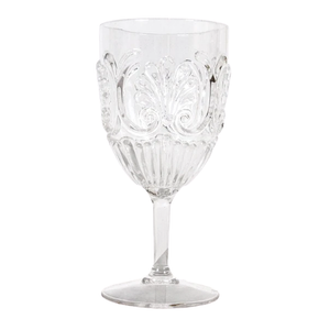 WINE GLASS ACRYLIC CLEAR / STYLISH & STURDY