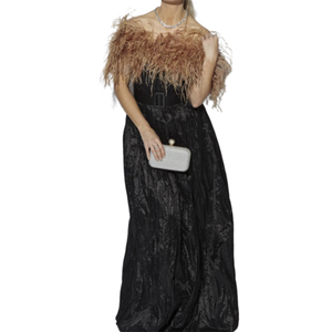 OSTRICH FEATHER SHRUG / BOLERO - CHAMPAGNE