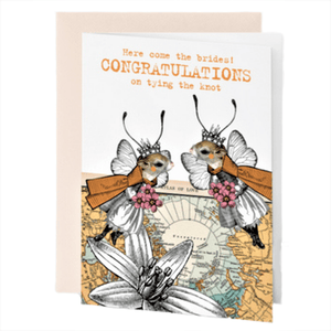 CONGRATULATIONS THE BRIDES GREETING CARD
