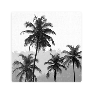 LUXE MONOCHROME PALM FOREST CERAMIC COASTER / CORK BACKING