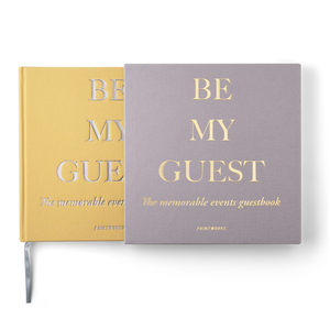 GUEST BOOK BEIGE YELLOW - PRINTWORKS
