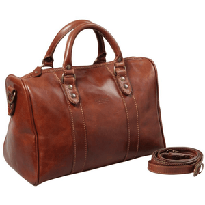 I MEDICI OF FLORENCE ITALIAN LEATHER TRAVEL BAG - Bowerbird on Argyle