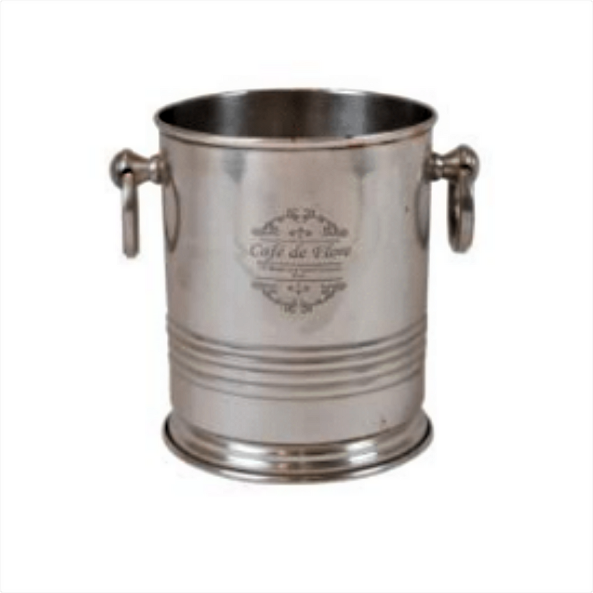 'MARIELLE' PEWTER FINISH BAR BUCKET SMALL