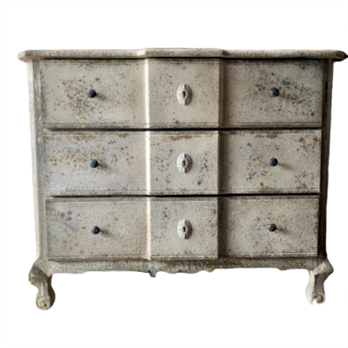 CHEST OF 3 DRAWERS / WOOD / DISTRESSED PATINA