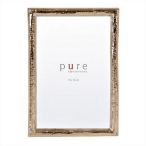 FRAME PHOTO MEDIUM GOLD LEAF EDGE  / 14CM (W) 2CM(D) X 19CM (H)