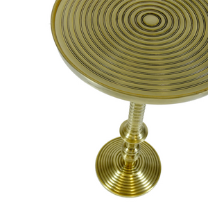 SIDE TABLE METAL ROUND / ANTIQUE GOLD