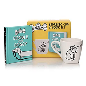 GIFT SET: OFF THE LEASH ESPRESSO CUP AND BOOK SET