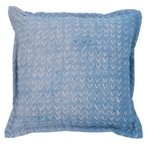 LUMIERE ART + CO.  ALPINE HANDMADE CUSHION IN PERIWINKLE
