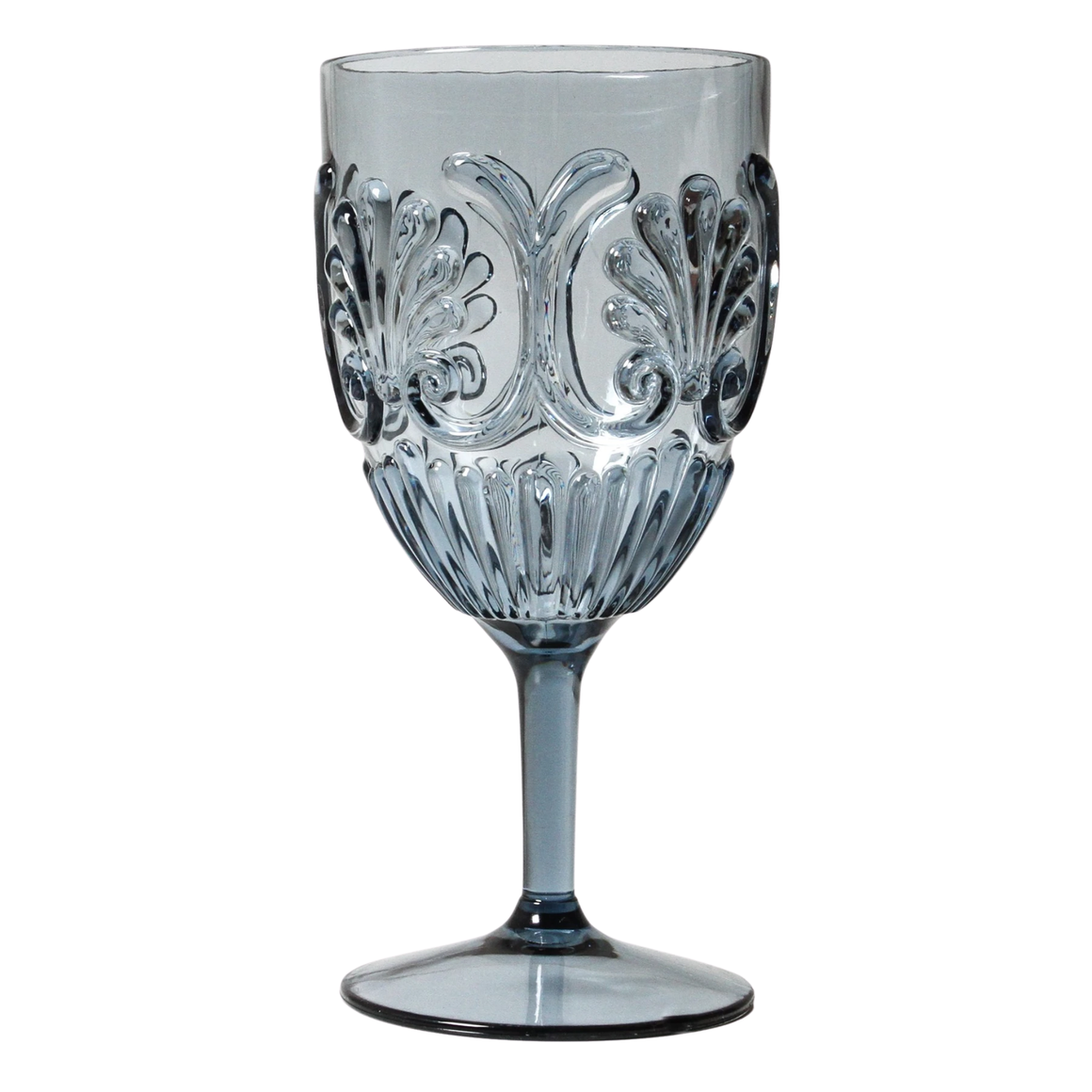 WINE GLASS ACRYLIC DEEP BLUE / STYLISH & STURDY