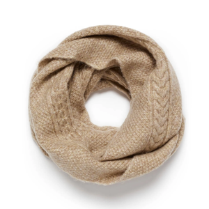 FLINDERS LOOP SCARF - LIGHT CAMEL