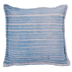 LUMIERE ART + CO. BUNYA HANDMADE CUSHION IN PERIWINKLE