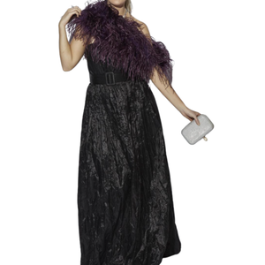 OSTRICH FEATHER SHRUG / BOLERO - VINTAGE WINE