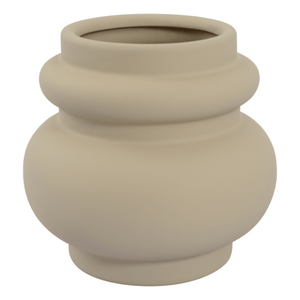 CERAMIC PLANTER POT - LATTE 16CM (W) X 15CM (H) - Bowerbird on Argyle