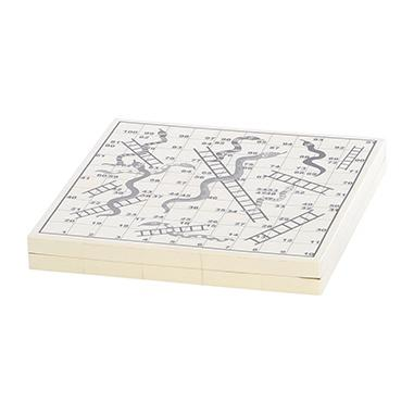 SNAKES & LADDERS BONE BOARD SET