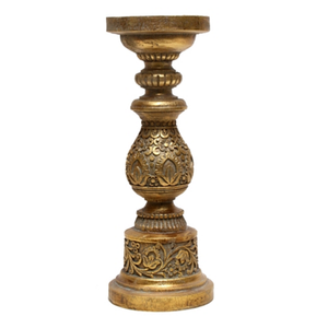 FILIGREE CANDLE HOLDER GOLD 30CM (H)