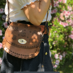 CHARLIE MINI HOBO - VINTAGE BROWN LEATHER