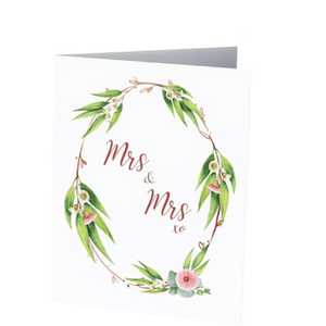 MRS & MRS WEDDING CARD - Bowerbird on Argyle