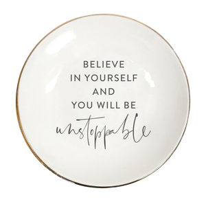 TRINKET/JEWELLERY PLATE  'BELIEVE'