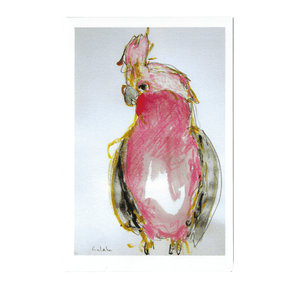 GALAH LUCY GREETING CARD / RACHEL CARROLL ARTIST - Bowerbird on Argyle