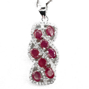 Ruby Pendant with s/silver chain
