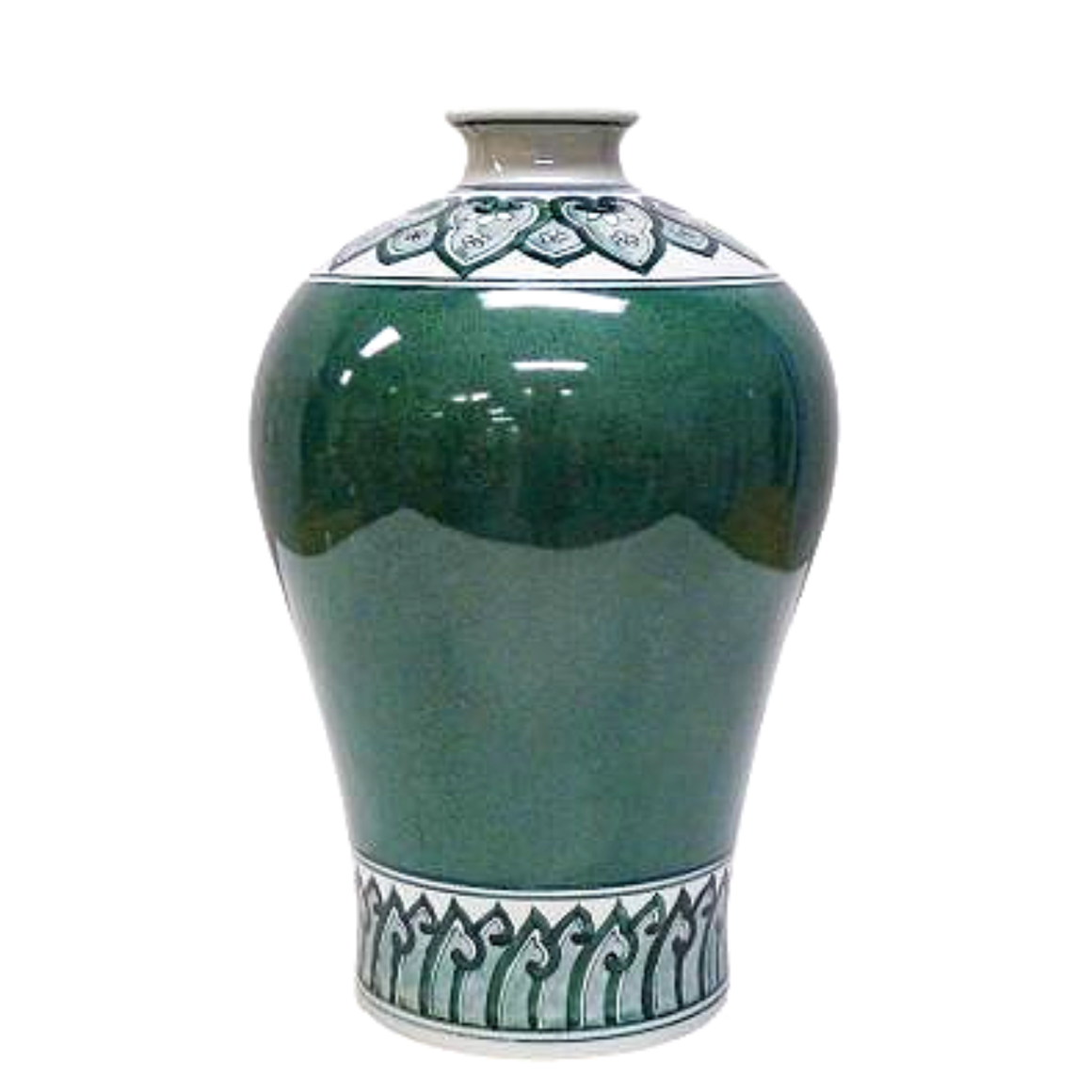 LUXE HUNTER GREEN JAR 32CM (H)