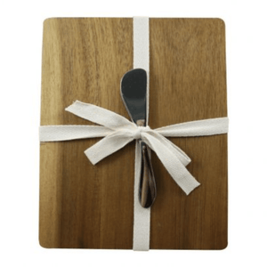 CHEESEBOARD & SPREADER (INCLUDES BURLAP GIFT BAG) - Bowerbird on Argyle