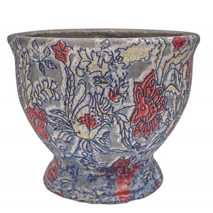 PLANTER FLORAL SMALL TERRACOTTA