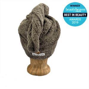 TOWELLING HAIR WRAP / WARM GREY