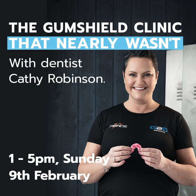 Pop Up Gum-shield Fitting Clinic with dentist Dr. Cathy Robinson at The Shop That Nearly Wasn't