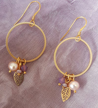 Load image into Gallery viewer, Cherry Leaf Earrings