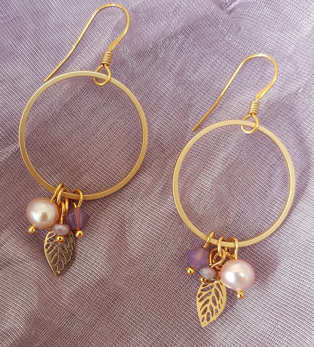 Cherry Leaf Earrings