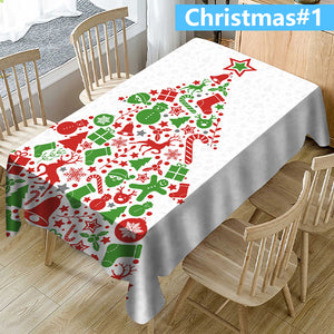 (Christmas1-19)3D printing-Removable Washable Dinner Tablecloth(2020Christmas specials)