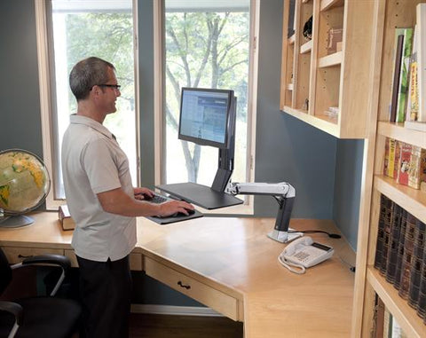 Ergotron 24-317-026 WorkFit A Single LD with Worksurface - Standing Desk Center