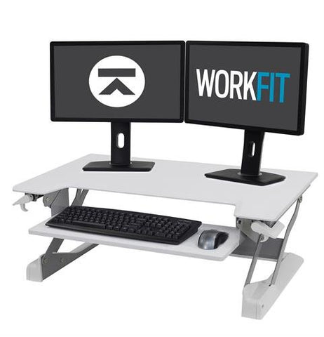Ergotron 33-406-085 Workfit TL Sit-Stand Desk Converter Large Surface - Standing Desk Center