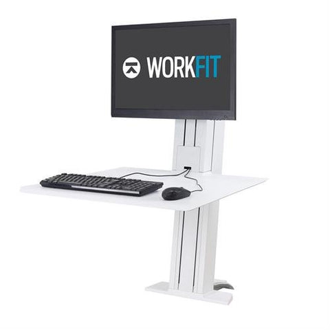 Ergotron 33-415-085 WorkFit SR Single Monitor Standing Desk Converter - Standing Desk Center