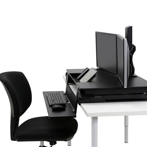 Ergotron 33-444-921 WorkFit TLE Standing Desk Converter With Drop Down Keyboard Tray - Standing Desk Center