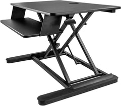 "StarTech ARMSTSLG Sit-Stand Desk Converter - Large 35"" Work Surface - Standing Desk Center"