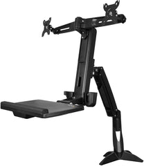 StarTech ARMSTSCP2 Sit Stand Dual Monitor Arm Sit Stand Workstation