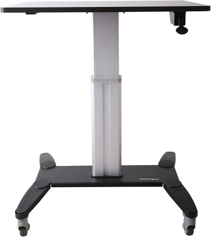 StarTech STSCART One-Touch Height Adjustment with Lock Sit-Stand Mobile Workstation - Standing Desk Center