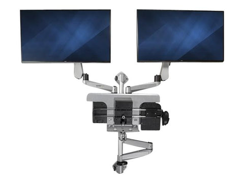 StarTech WALLSTSI2 Wall Mounted Computer Workstation Premium Dual Monitor - Standing Desk Center