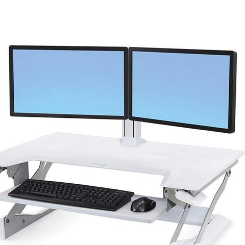 Ergotron 97-934-062 WorkFit Dual Monitor Kit White - Standing Desk Center