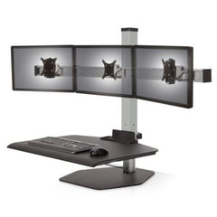 INNOVATIVE WINSTON WORKSTATION TRIPLE MONITOR SIT STAND