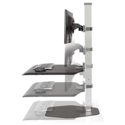INNOVATIVE WINSTON WORKSTATION TRIPLE MONITOR SIT STAND - Standing Desk Center