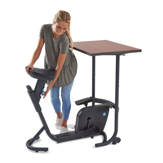 LifeSpan Fitness Unity Bike Desk - Standing Desk Center