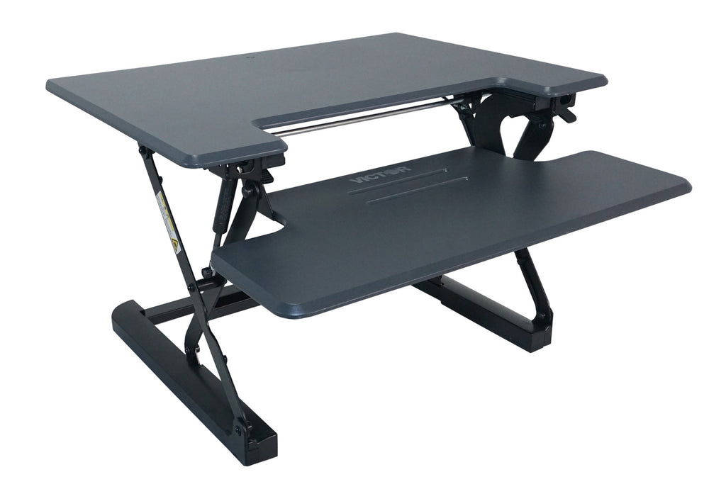 "Victor DCX710G High Rise™ Height Adjustable Standing Desk 31"" Wide Gray - Standing Desk Center"