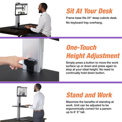 Victor DC400 High Rise™ Electric Single Monitor Standing Desk