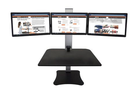 Victor DC475 High Rise™ Electric Triple Monitor Standing Desk